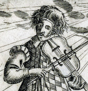 Masked musician, 1638