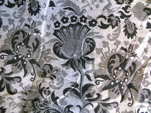 black & grey fabric