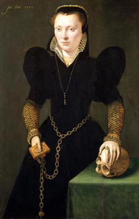 "Portrait of Katheryn of Berain, ""The Mother of Wales,"" 1568, by Adriaen van Cronenburgh"