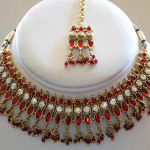 A set of Indian bridal jewelry I bought on eBay to wear with the gown