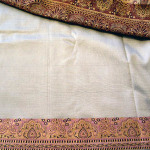 The silk sari (bought in India) to use as the Aouda gown
