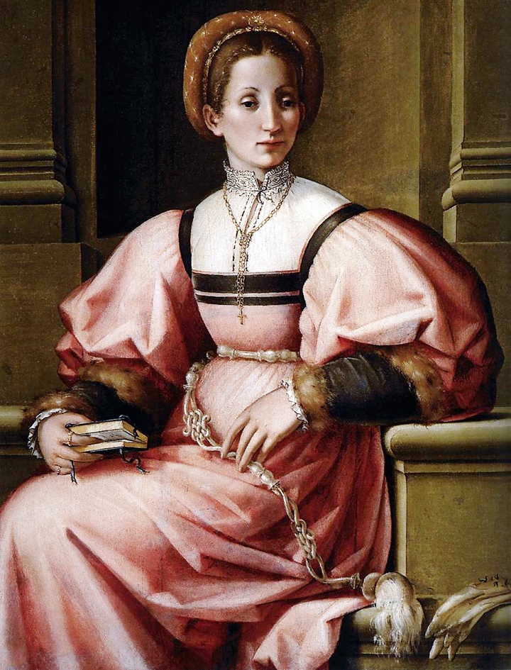 Portrait of a lady by Pierfrancesco di Jacopo Foschi, 1535 (image source: Web Gallery of Art)