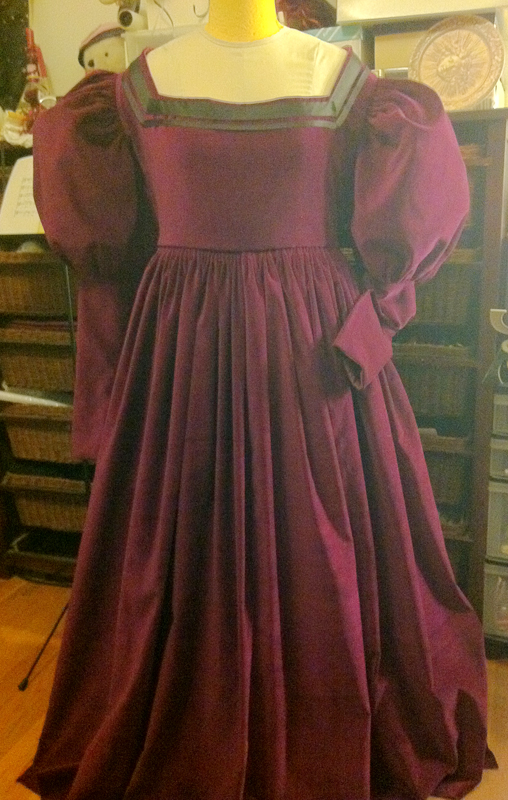 1530s gown almost done