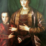 1550s - Eleonora di Toledo by Bronzio (image source: Wikimedia Commons)