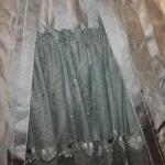 Closeup of petticoat with recycled Eugenie lace