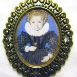 Portrait miniature of Elizabethan little girl