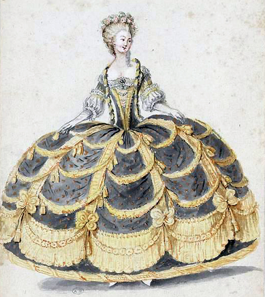 1788 French court gown, image from Les Arts Décoratifs