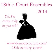 18th c Court Gowns 2014