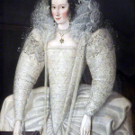 1595-1600, Elizabeth Throckmorton, maid of honour to Queen Elizabeth I, by Robert Peake the Elder
