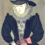 1596, Joan Woodward, wife of the actor Edward Alleyn. Image source: Wikimedia Commons