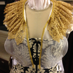Gold lace ruff