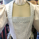 closeup of 1590s bodice
