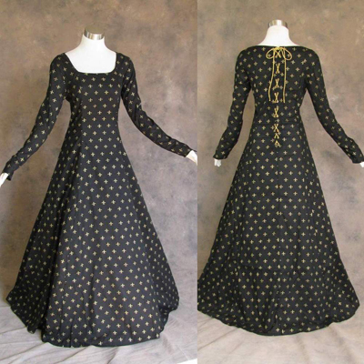 Black fleur-de-lis gown by Artemisia Dance Designs on eBay
