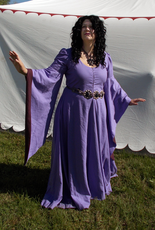 purple gothic fitted dress